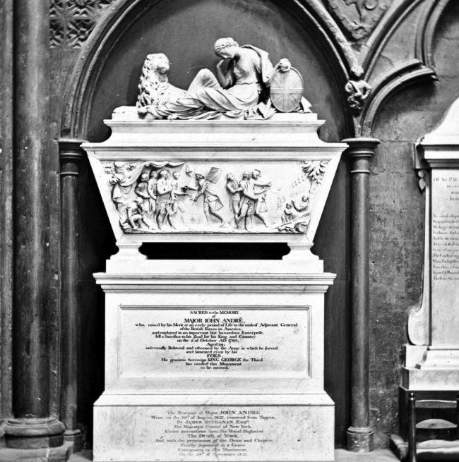 Monument of Major Andre - Westminster Abbey
