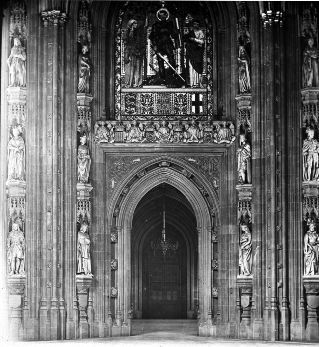 Interior Doorway in House of Parliament - London