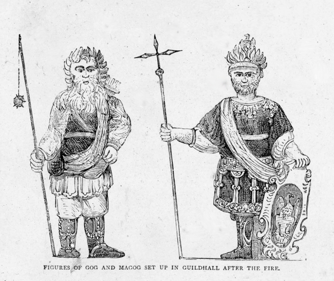 Gog and Magog image in the Guildhall - London