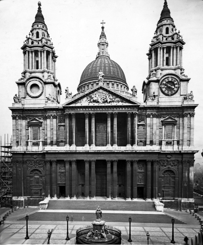 St. Paul's Cathedral  (slide labeled - copyrighted A. D. 1882)